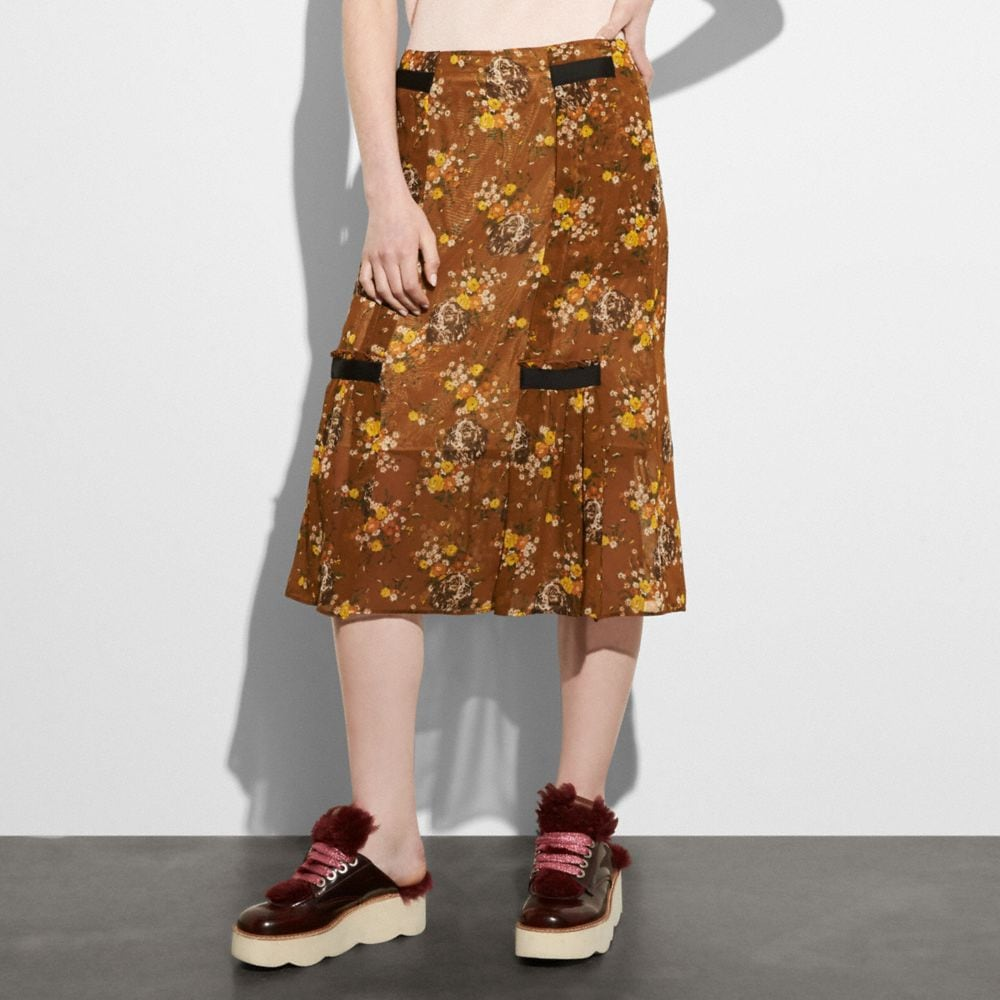 Coach Prairie Dog Rose Skirt Alternate View 1