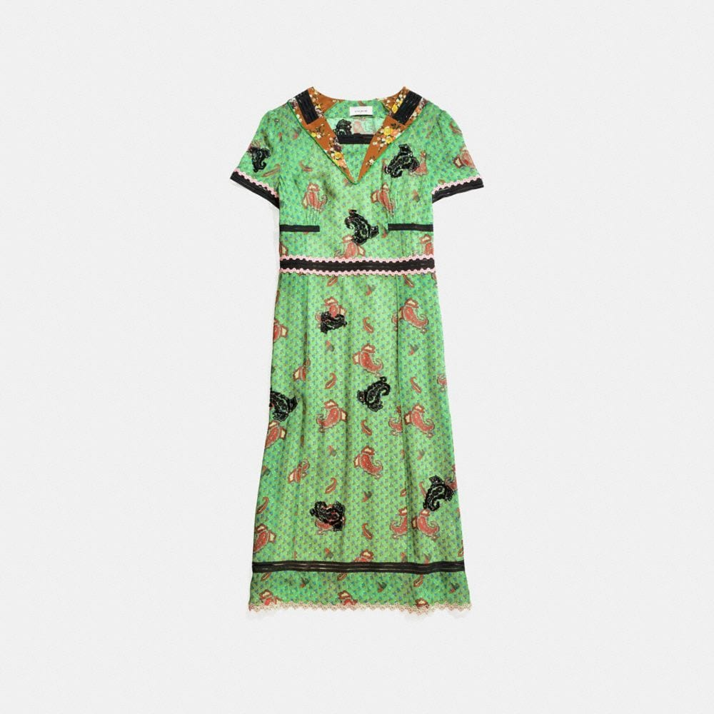 Coach Clothing COACH EMBROIDERED NAUTICAL DRESS
