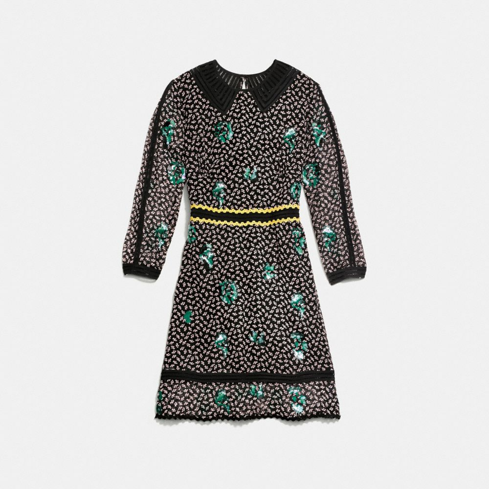 Coach Embroidered Graphic Duck Dress Alternate View 1