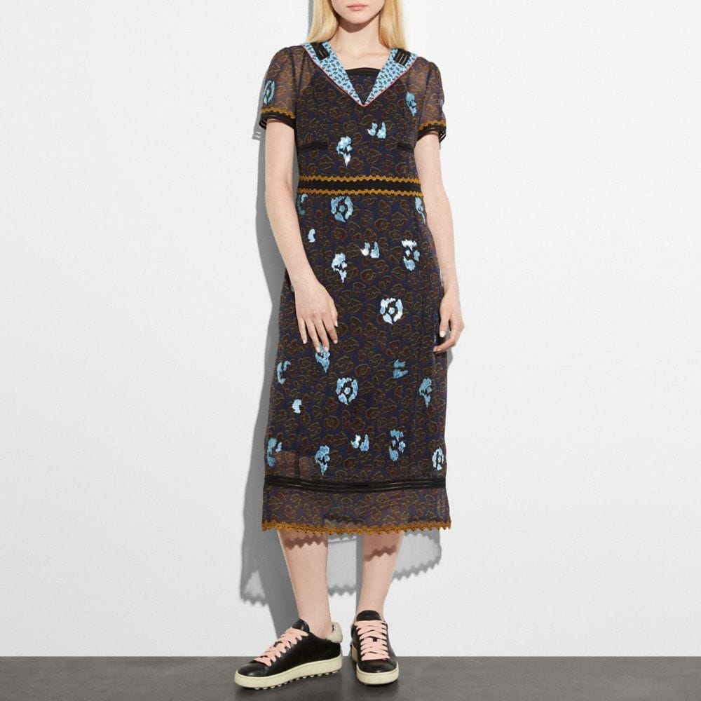 Coach Wild Beast Nautical Dress Alternate View 1
