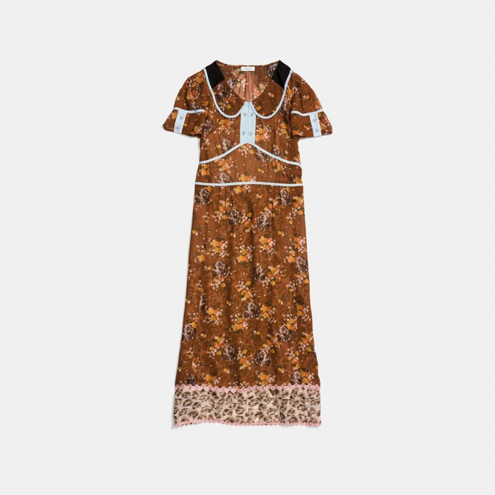 PRAIRIE DOG ROSE DOUBLE COLLAR DRESS