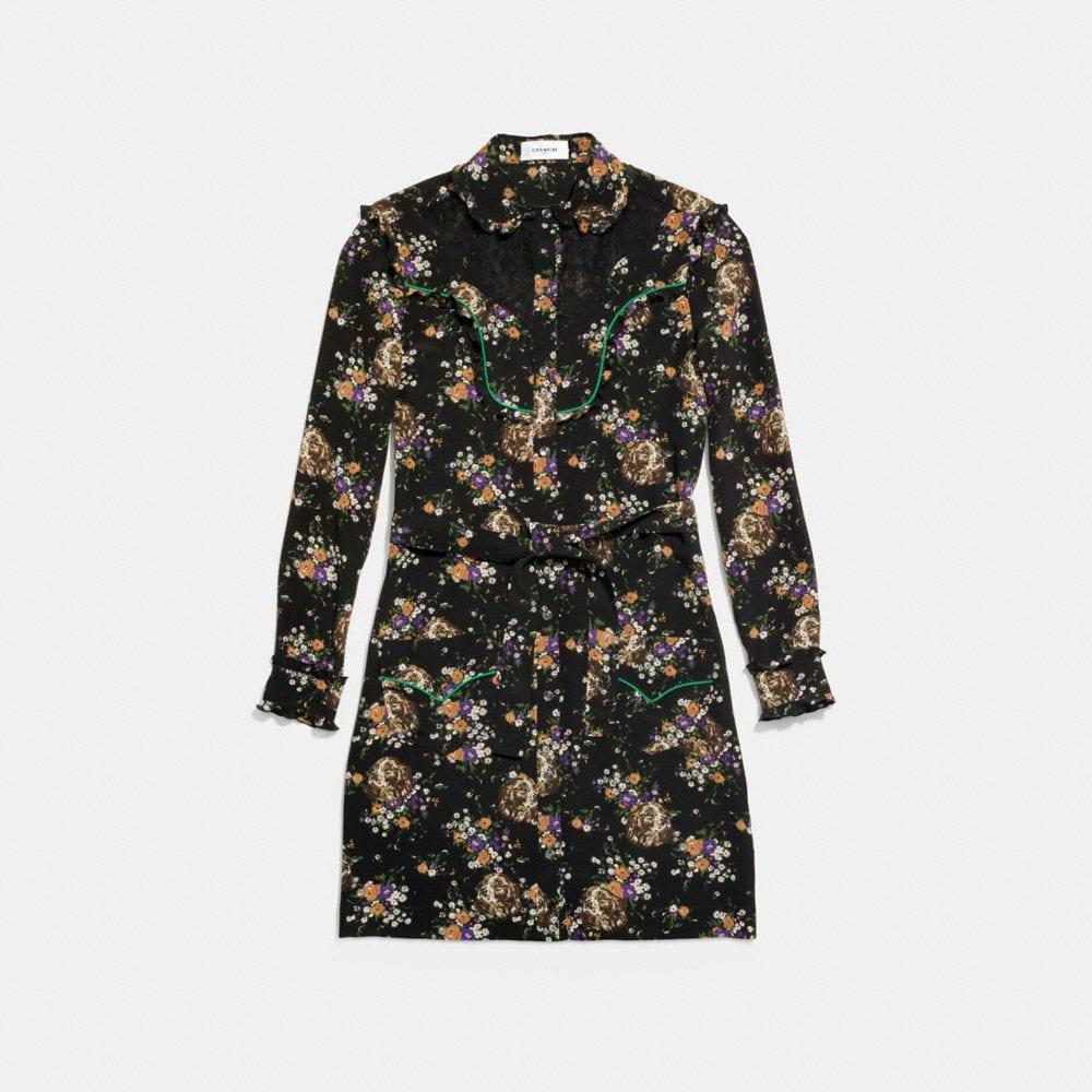 western lace shirt dress