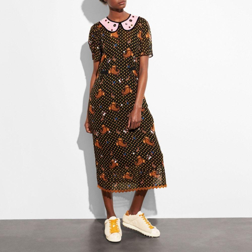 Coach Embroidered Bouquet Dress