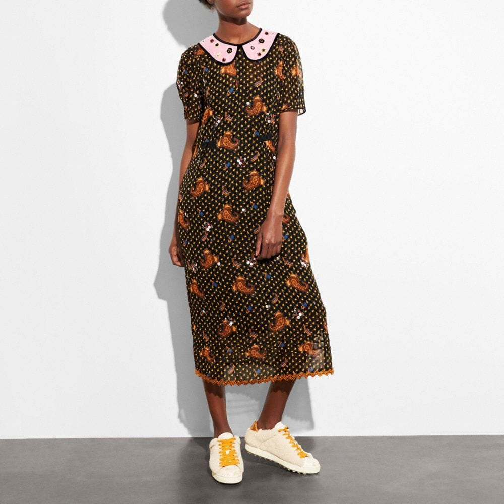 Coach Embroidered Bouquet Dress