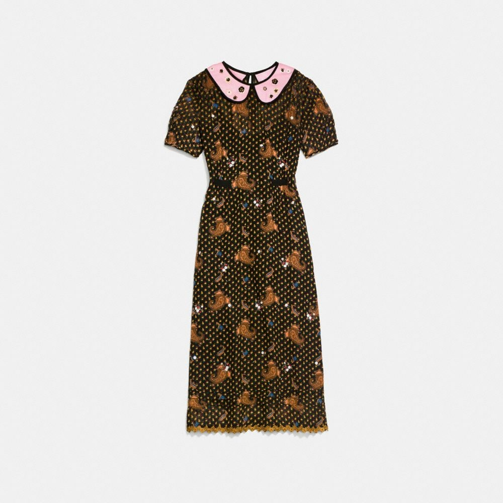 Coach Embroidered Bouquet Dress Alternate View 1