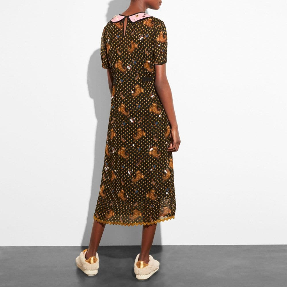 Coach Embroidered Bouquet Dress Alternate View 2