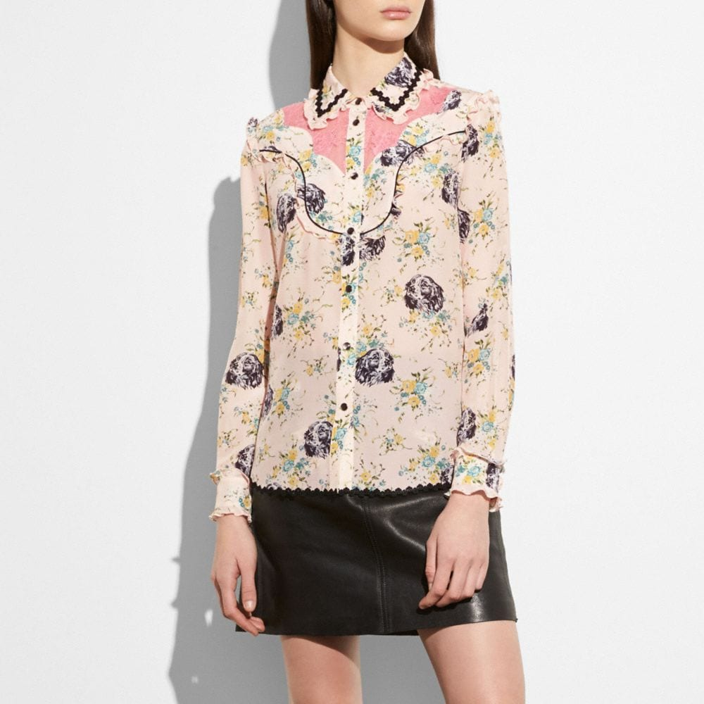 Coach Western Lace Blouse Alternate View 1