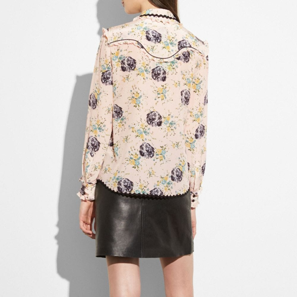 Coach Western Lace Blouse Alternate View 2