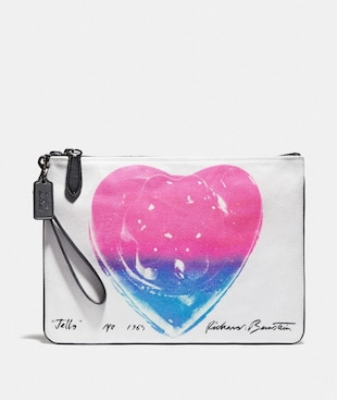 COACH X RICHARD BERNSTEIN POUCH 30 WITH JELLO HEART
