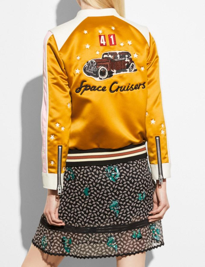 Coach Varsity Racer Jacket Deep Clementine  Alternate View 2