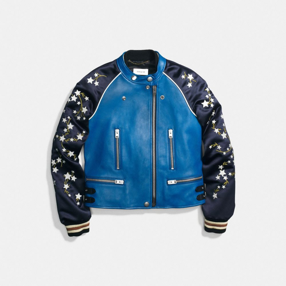 Coach Embroidered Cityscape Souvenir Jacket