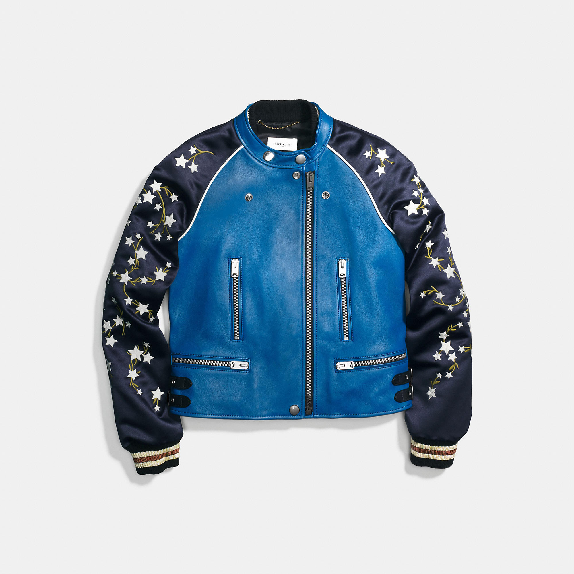 Coach Embroidered Cityscape Souvenir Jacket
