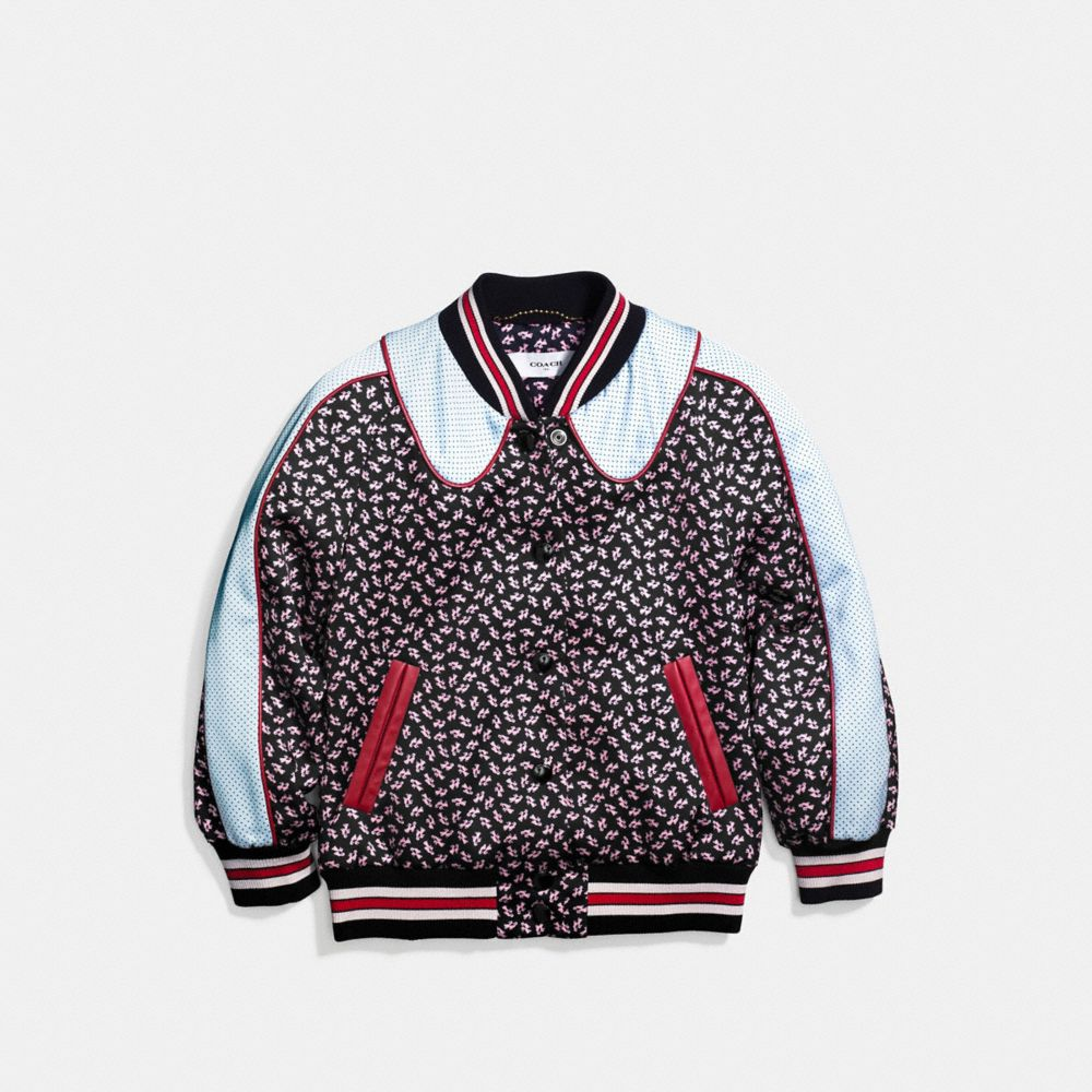 Coach Graphic Duck Varsity Souvenir Jacket Alternate View 1