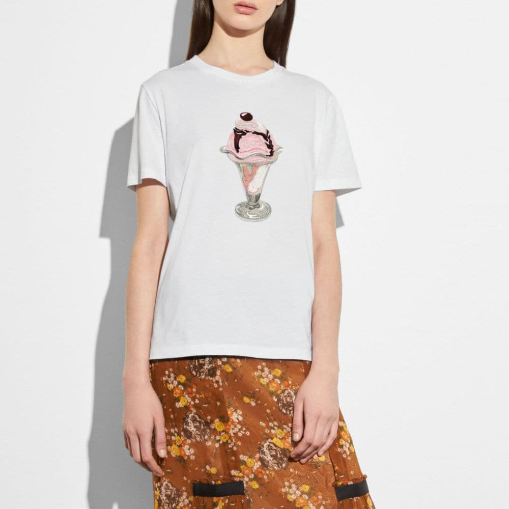 Coach Embellished Sundae T-Shirt