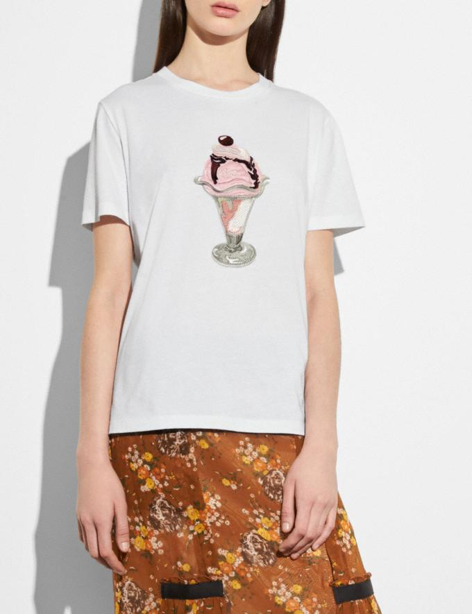 Coach Embellished Sundae T-Shirt White