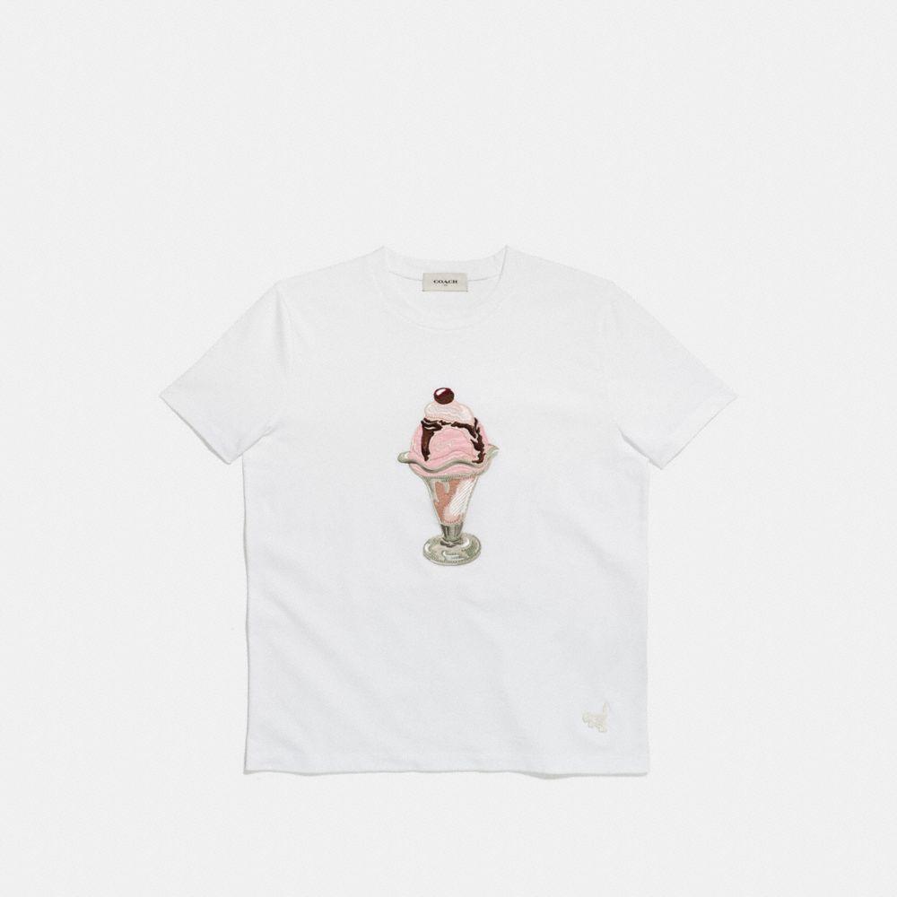 Coach Embellished Sundae T-Shirt Alternate View 1