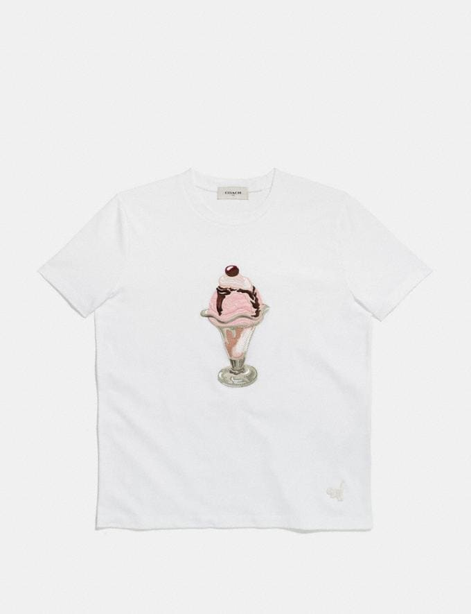 Coach Embellished Sundae T-Shirt White  Alternate View 1