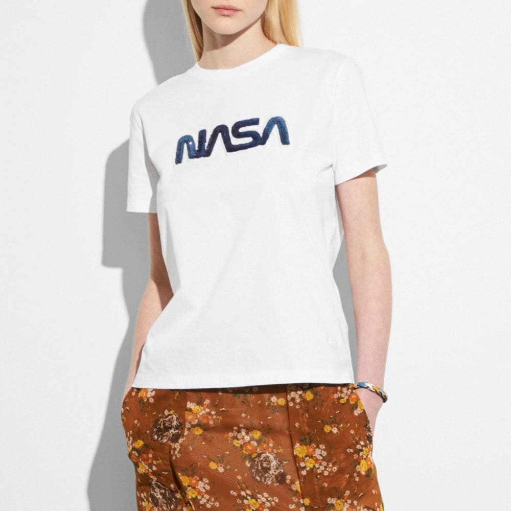 Coach Embellished Space T-Shirt