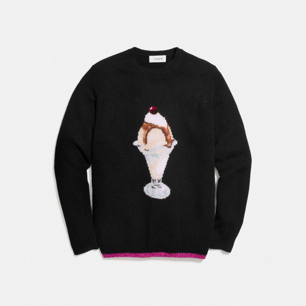 Coach Sundae Intarsia Sweater