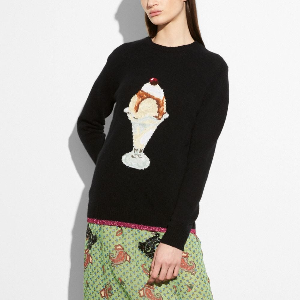 Coach Sundae Intarsia Sweater Alternate View 1