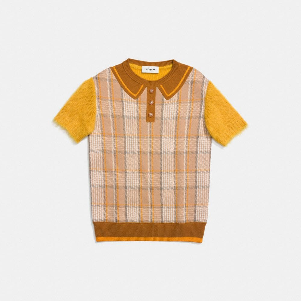 Coach Retro Plaid Polo