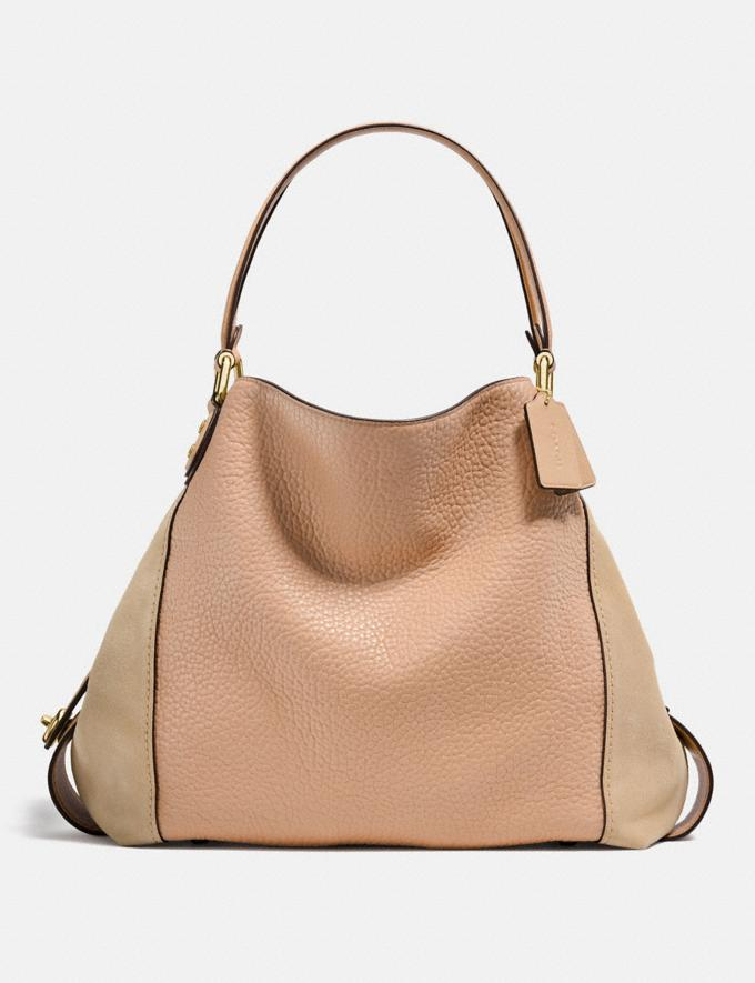 Coach Edie Shoulder Bag 42 Beechwood/Light Gold Personalise Personalise It Monogram For Her