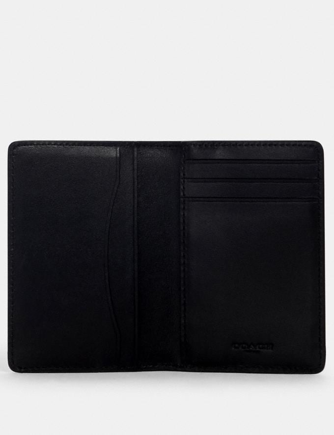 Coach Card Wallet in Signature Canvas With Coach Patch Qb/Tan Black  Alternate View 1