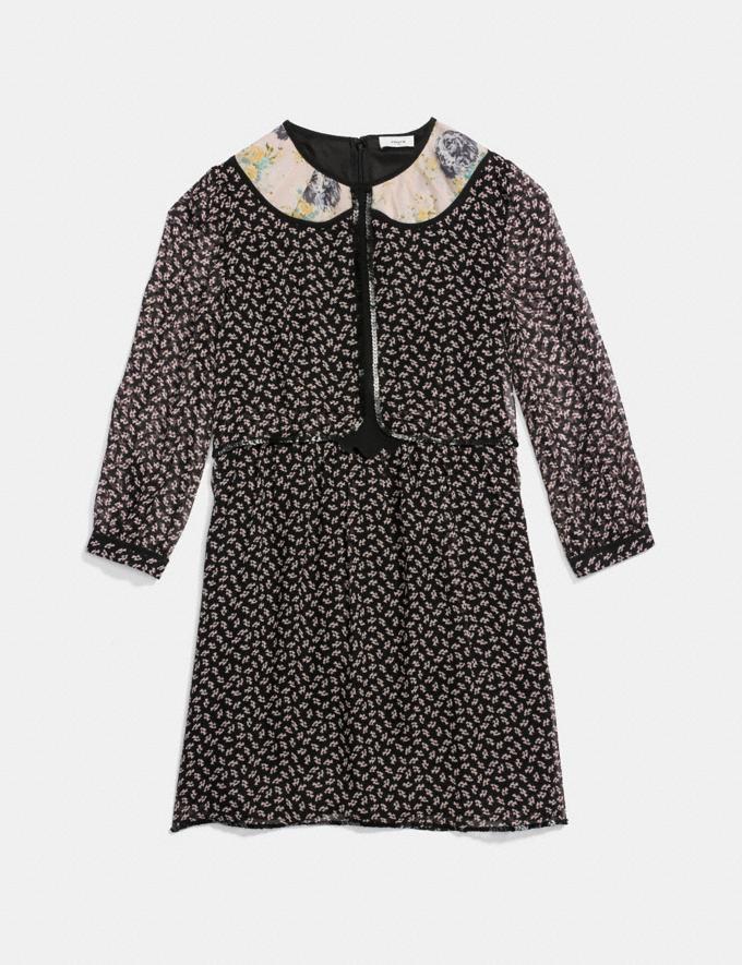 Coach Duck Geo Babydoll Dress Black Multi