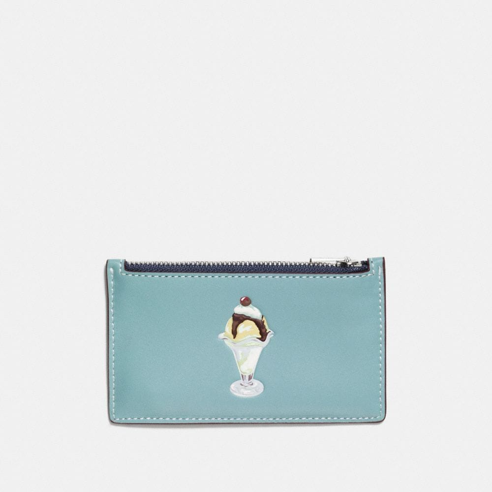 ZIP CARD CASE WITH SUNDAE