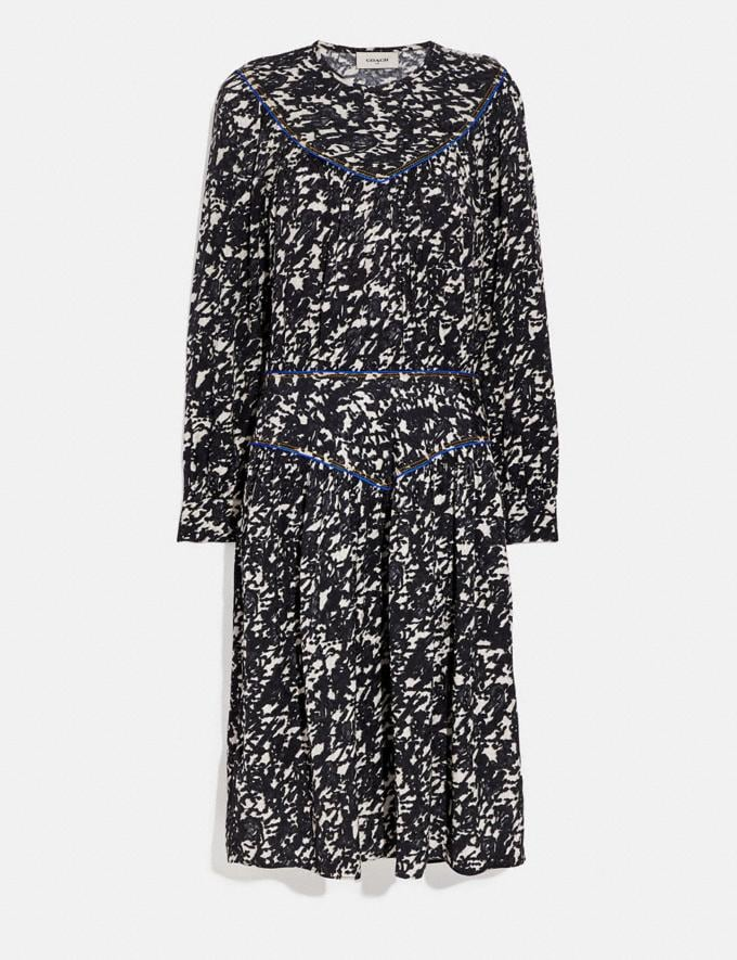 Coach Yoke Dress Black/Grey Women Ready-to-Wear Dresses