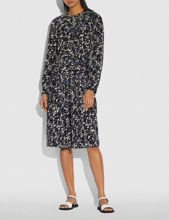 Coach Yoke Dress Black/Grey Women Ready-to-Wear Dresses Alternate View 1