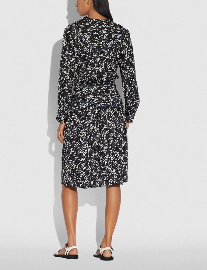 Coach Yoke Dress Black/Grey Women Ready-to-Wear Dresses Alternate View 2