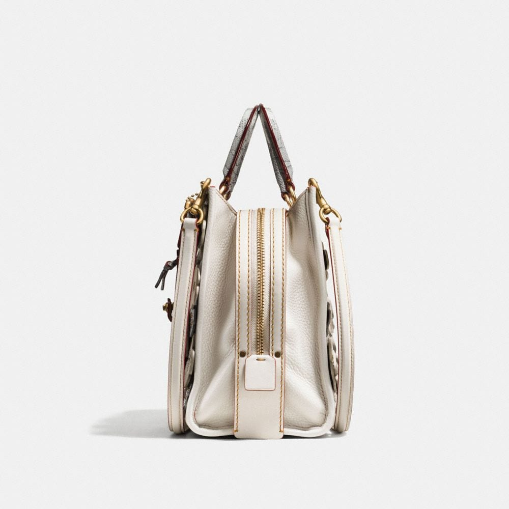 Coach Rogue With Snakeskin Tea Rose Alternate View 1