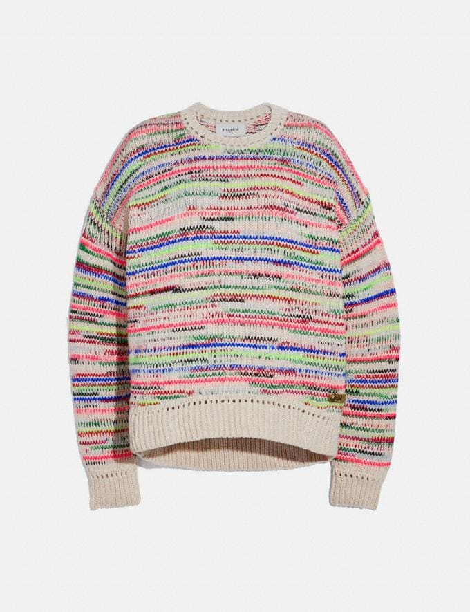 Coach Summer Stripe Sweater Multi