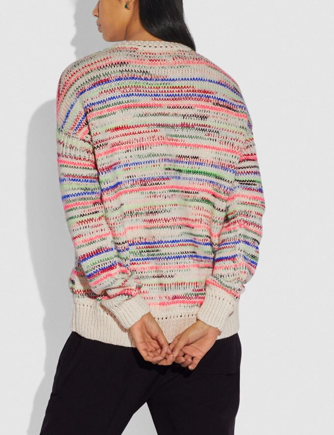 Coach Summer Stripe Sweater Multi  Alternate View 2