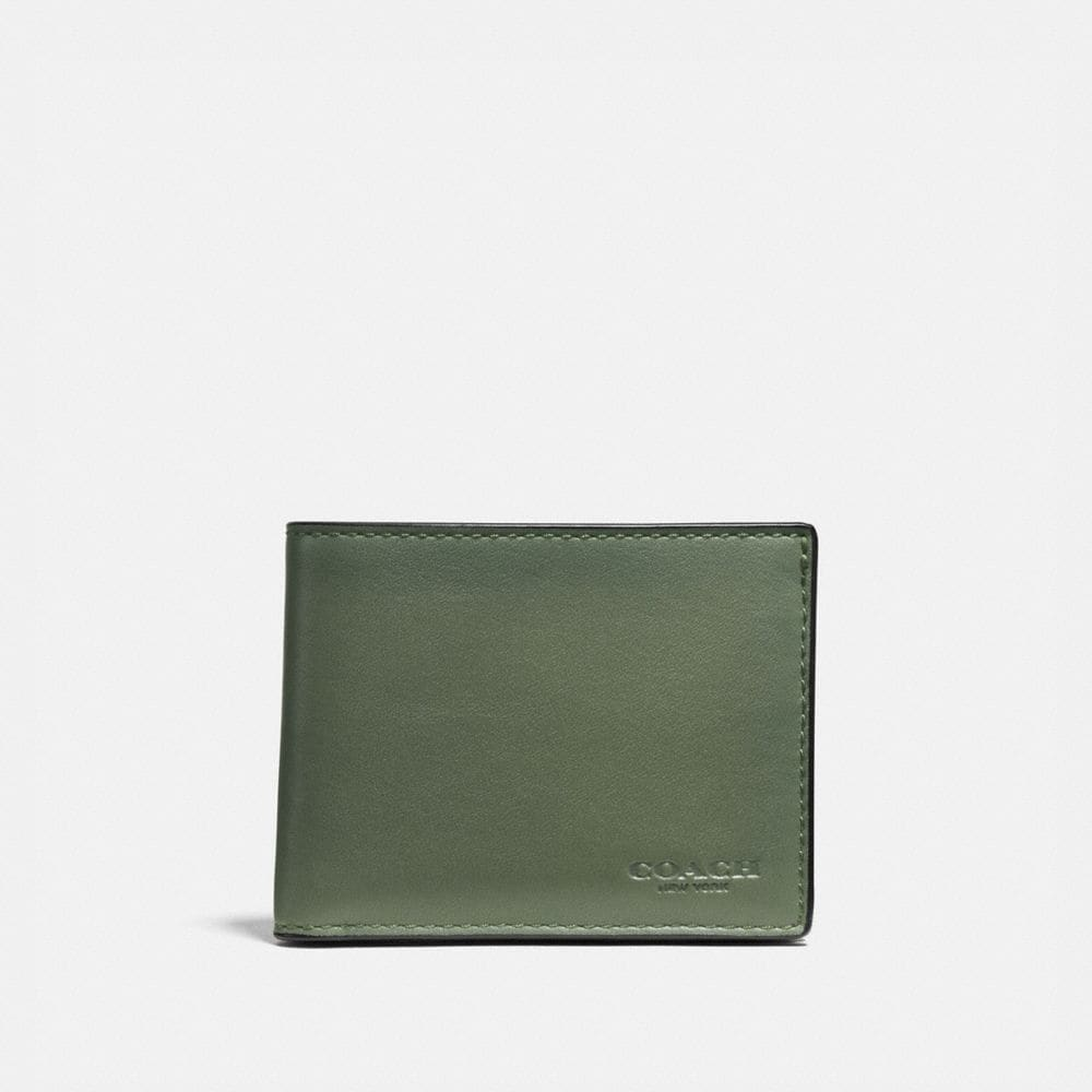 Slim Billfold Wallet in Burnished Sport Calf Leather