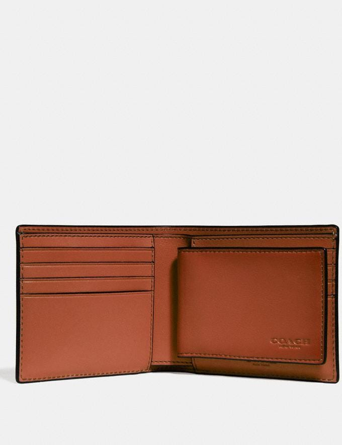 Coach 3-In-1 Wallet Rust SALE March Event Men's Alternate View 1