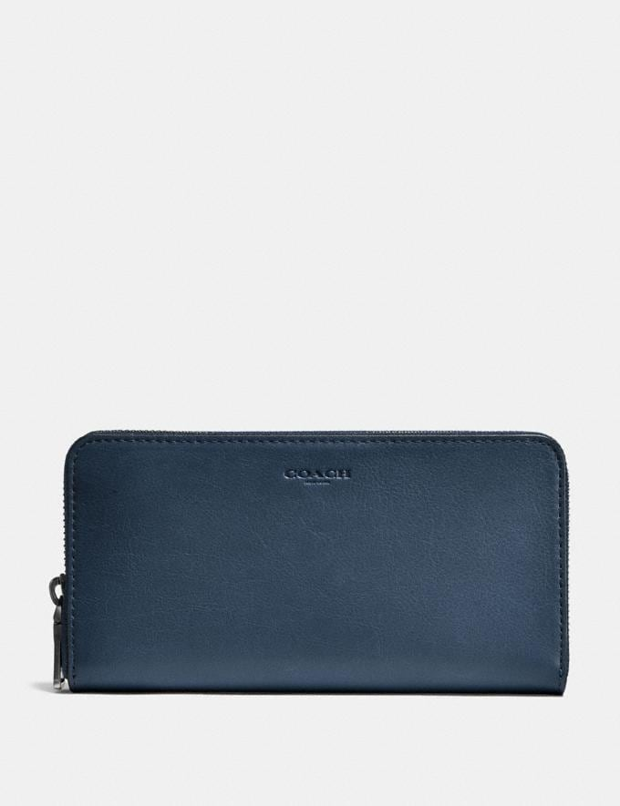 Coach Accordion Wallet Denim