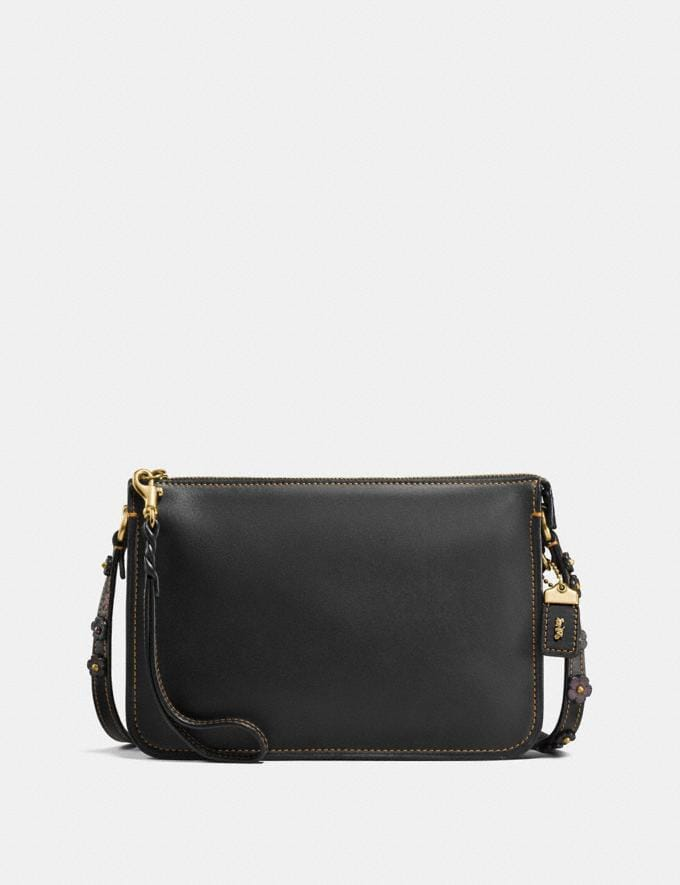 Coach Soho Crossbody With Tea Rose Black/Old Brass CYBER MONDAY SALE Women's Sale Bags