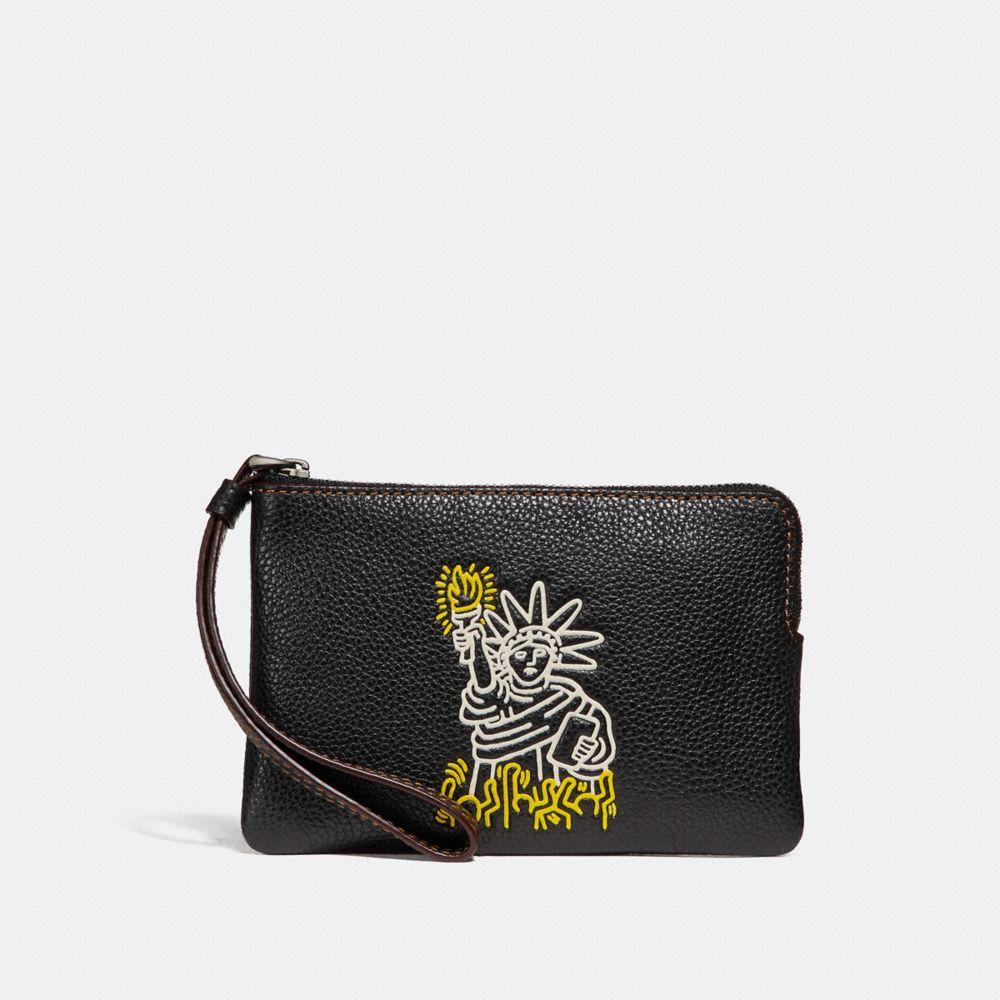 Coach Complimentary Coach X Keith Haring Corner Zip Wristlet
