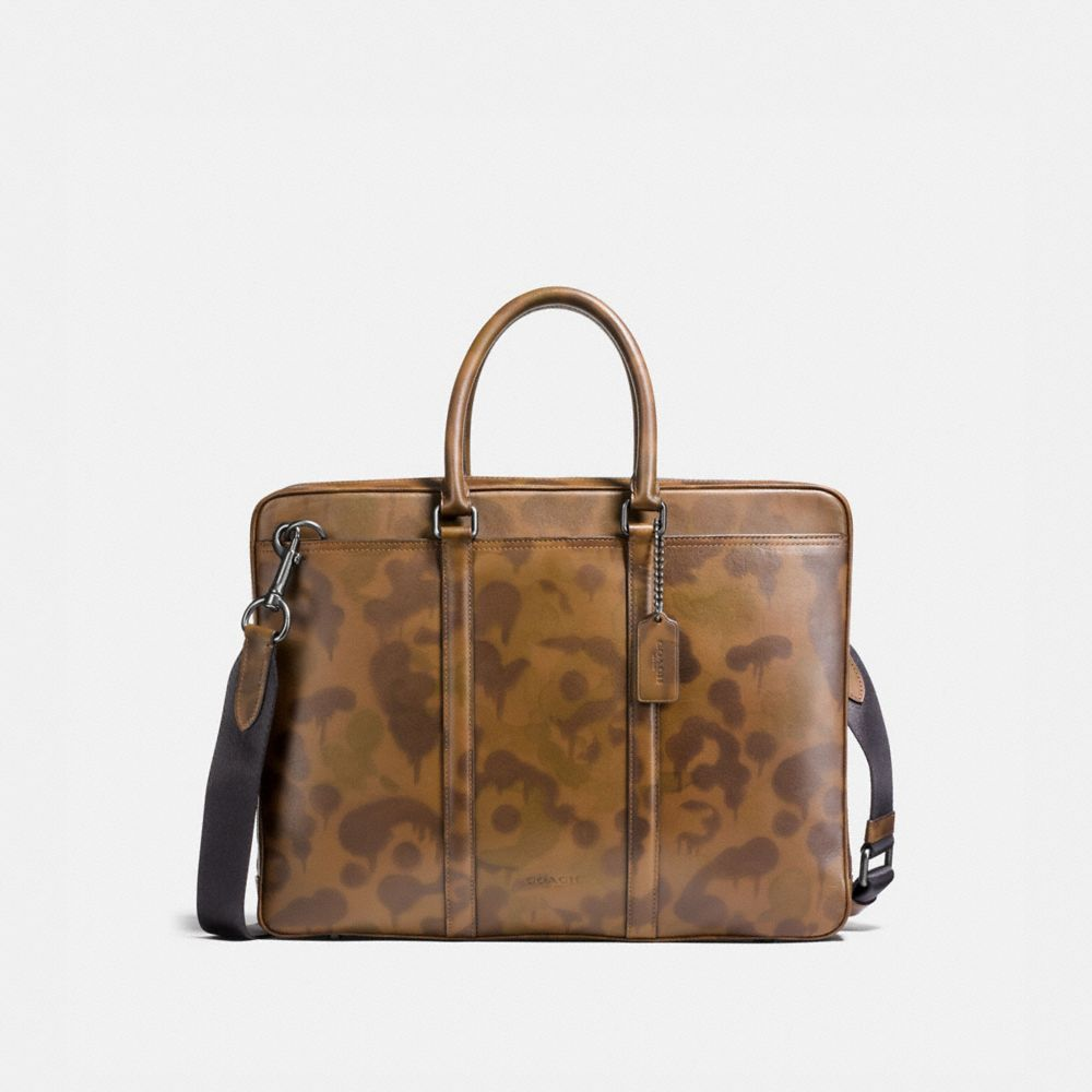 Coach Metropolitan Slim Brief With Wild Beast Print