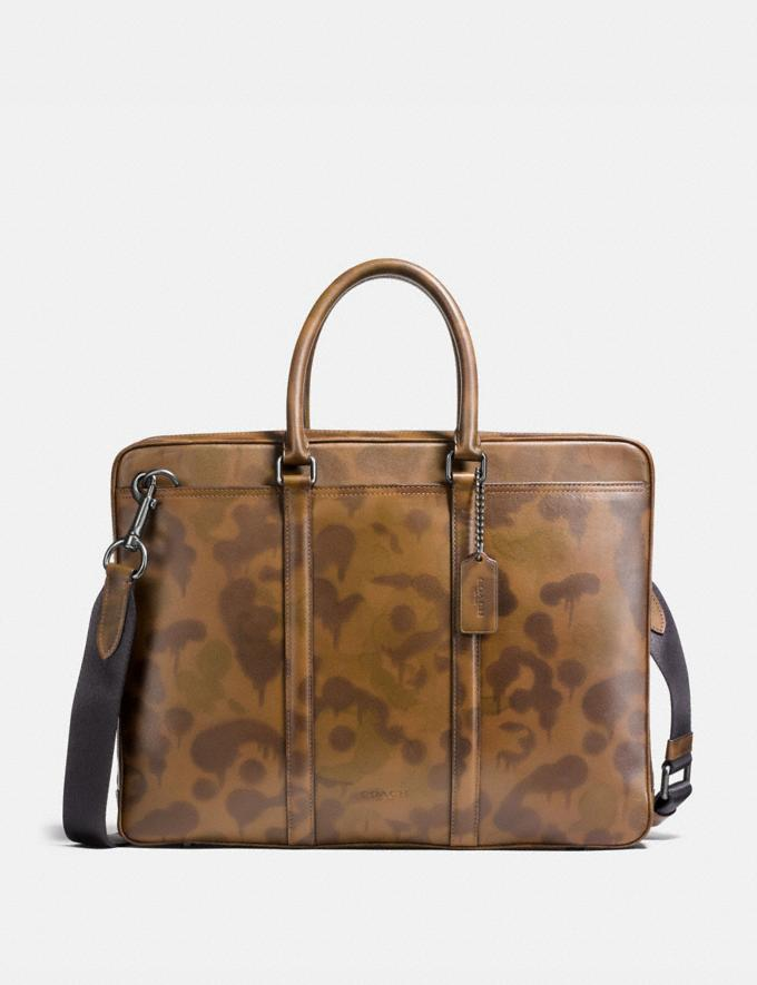 Coach Metropolitan Slim Brief With Wild Beast Print Surplus/Black Copper PRIVATE SALE Men's Sale Bags
