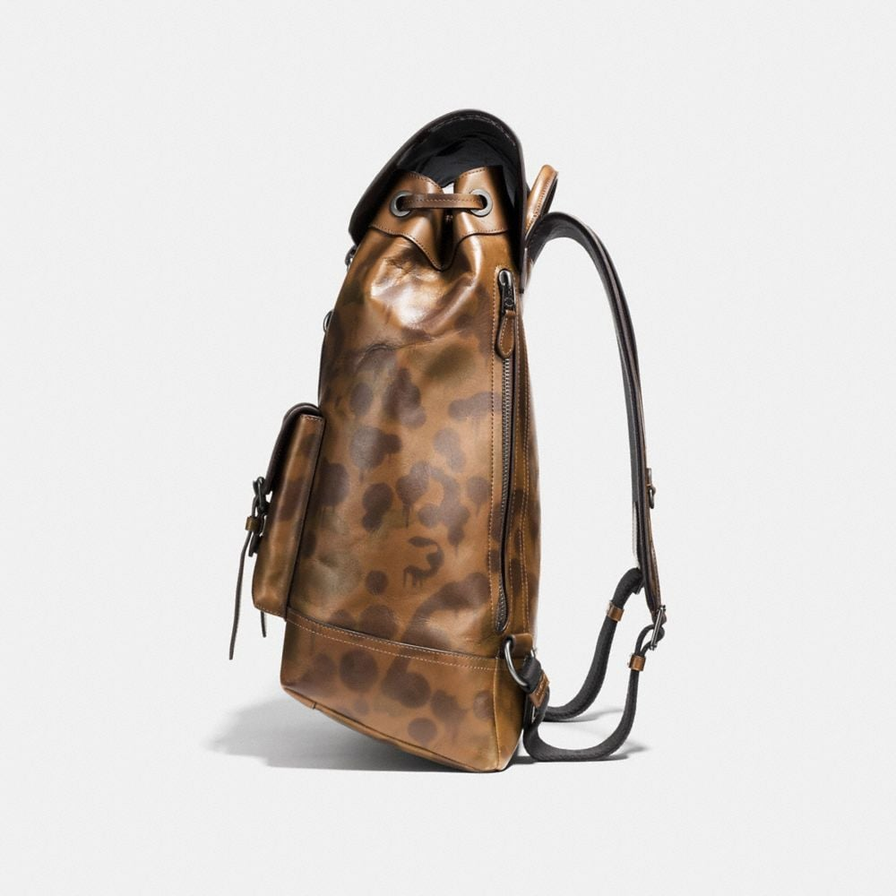 Coach Bleecker Backpack With Wild Beast Print Alternate View 1