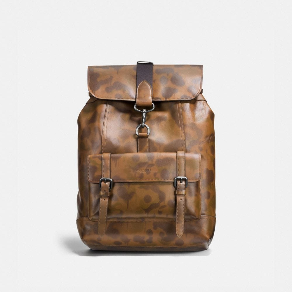 BLEECKER BACKPACK WITH WILD BEAST PRINT