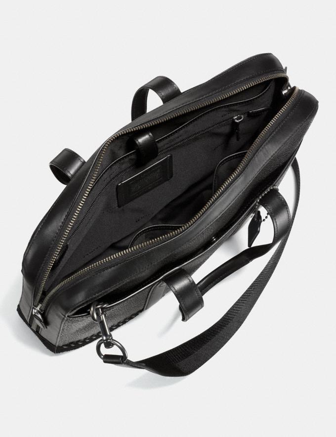 Coach Metropolitan Soft Brief With Baseball Stitch Midnight Navy/Black Antique Nickel SALE Men's Sale Bags Alternate View 2