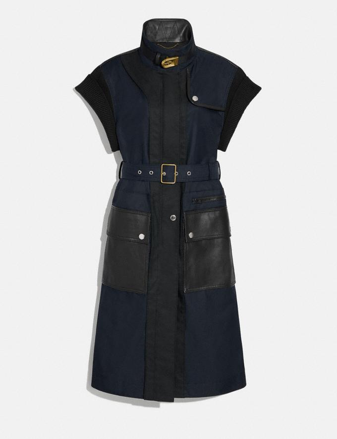 Coach Sleeveless Trench Raven Blue Women Ready-to-Wear