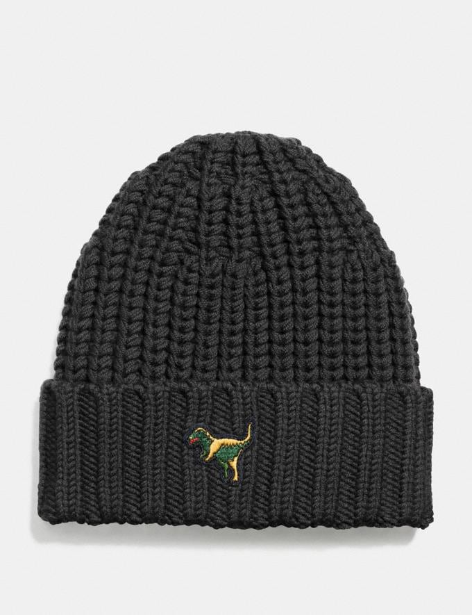 Coach Rexy Knit Beanie Black