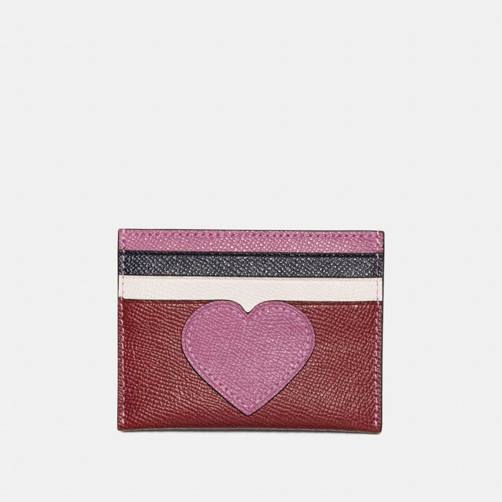 CARD CASE WITH HEART MOTIF