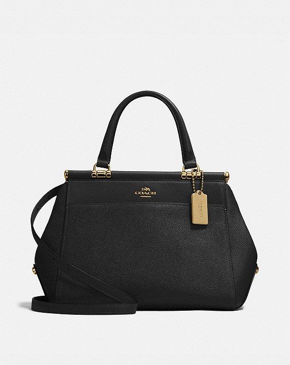 Top Handle Handbag On Sale, Black, Leather, 2017, one size Coach
