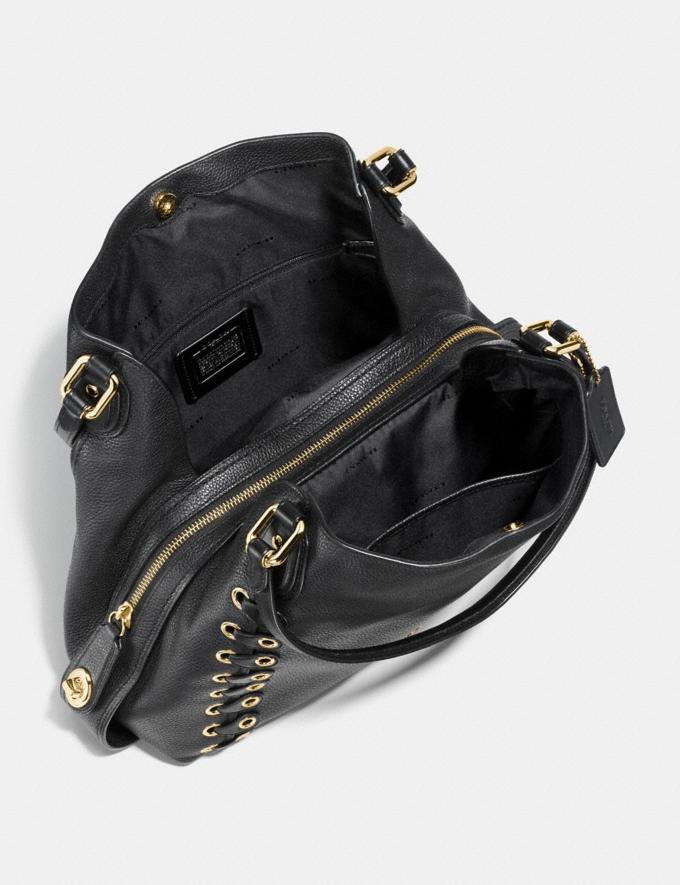 Coach Edie Shoulder Bag 31 With Coach Link Detail Black/Light Gold CYBER MONDAY SALE Women's Sale Bags Alternate View 2